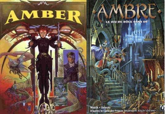 Amber Diceless vs Ambre le jeu de rôle sans dés
